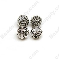 Metal Wired Silver Plated Beads 10mm