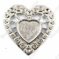 "Pendants,30x27mm heart Cameo Cabochon Base Setting Pendants£¬Antique ""pewter"" Plated,Sold 100 Pcs Per Lot"