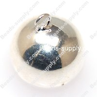 Pendants,Lucky bell,20mm round pendants,silver plated