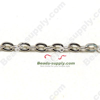 Plated Metal Chains,4*6mm - Click Image to Close