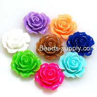 Resin Flower Cabochon, layered,mixed color, more colors for choice, 13mm, Sold by 200 pieces