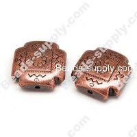 Antique Copper Plated Acrylic Beads 9x22mm