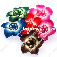 Beads,handmade fimo flower beads,polymer clay 20mm flower,assorted color