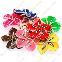 Beads,handmade fimo flower beads,polymer clay 40mm flower,assorted color
