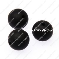 Beads,silicon round beads,14mm round silicone beads,black
