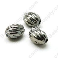 Black Nickle Beads 14x19mm