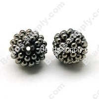 Black Nickle Round Beads 20mm