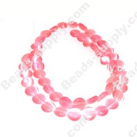Cats Eye Coins Beads 8mm