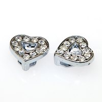 Charms,heart slide charm,fits 8mm bracelet