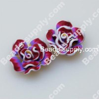 Fimo Mixed Color Flower Beads 20mm