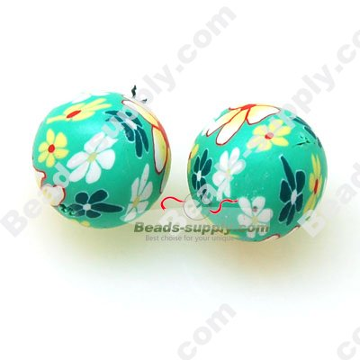 Fimo Round Beads 12mm - Click Image to Close