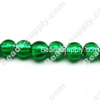 Glass Silver Foiled Round Beads 18mm