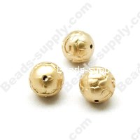 Gold Plating Round Beads 14mm