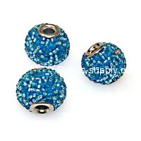 Indonesia Jewelry Beads, 13x15mm,blue handmade beads,sold of 20 pcs