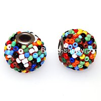Indonesia Jewelry Beads, 17x19mm,rainbow handmade beads,sold of 20 pcs