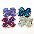 Pendants,AB color pave flower pendants,34x34x8mm