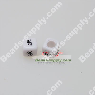 Percentage number Beads, Square Beads,7.5*7.5mm - Click Image to Close
