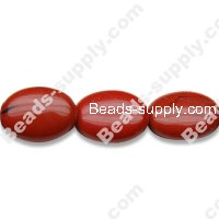 Red Jasper 12x15mm Oval Shape Beads