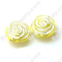 Acrylic Rose Beads 8*17mm, Yellow