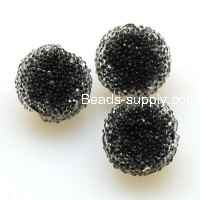 Bead, acrylic, black, 12mm round beads . Sold of 200 Pieces