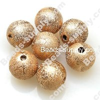 Bead,acrylic shimmering beads,brown,wrinkle Round Beads 6mm