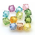 Bead in Bead Acrylic Beads, faceted cube ,8*8mm , Mixed Color
