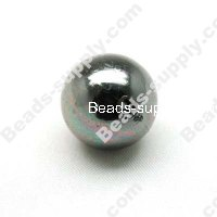 Black Nickle Round Beads 22mm