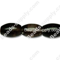 Black Watermelon 11x15mm Olive Shape Beads
