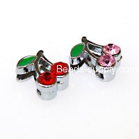 Charms,cherry slide charm,fits 8mm bracelet