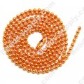 Colorful Ball chain 70CM,Orange