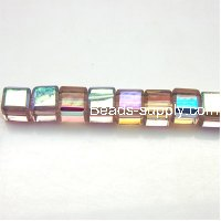 Glass Beads Cubic 6x6 mm