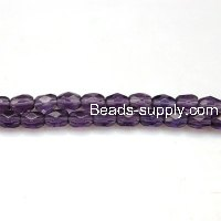 Glass Beads Faced Beads 4x6 mm B-grade