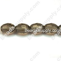Glass Beads Faced Olive 8x11 mm A-grade