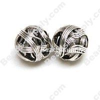 Metal Wired Silver Plated Beads 20mm