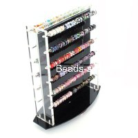 Plastic Swivel Counter Display for all large hole beads,european style Beads (Beads not included),Sold individually