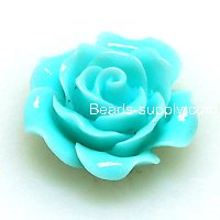 Resin Flower Cabochon, layered, fuchsia ,more colors for choice, 15mm, Sold by 200 pieces
