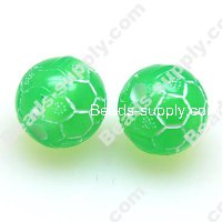 Acrylic Football 14mm, Green