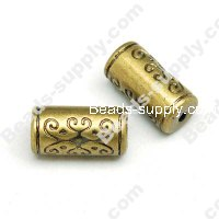 Antique Gold Plated Acrylic Beads 9x18mm