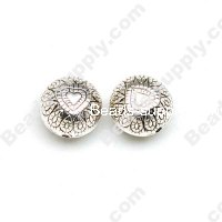 Antique Silver Plated Acrylic Beads