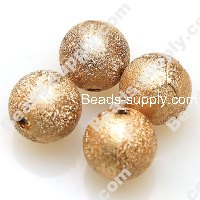 Bead,acrylic shimmering beads,brown,wrinkle Round Beads 8mm