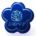 Beads,10x24mm satin flower beads,blue rubberized beads,sold of 100 pcs per pkg