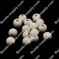 Beads,6mm round ceramic beads,white AB color