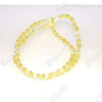 Cats Eye Olive Beads 4x6mm