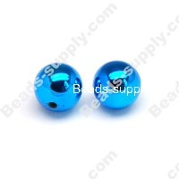 Colorful Plated Round Beads 14mm