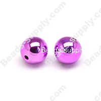 Colorful Plated Round Beads 22mm