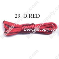 Cord, Bugtail, satin, D.Red, 2mm.