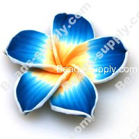 Fimo Flower Beads 60mm,Aquamarine