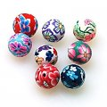 Fimo Round Beads 10mm,Assorted