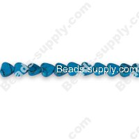Imit.Turquoise 6mm Heart Shape Beads