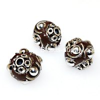 Indonesia Jewelry Beads, coffee,handmade beads,sold of 10 pcs
